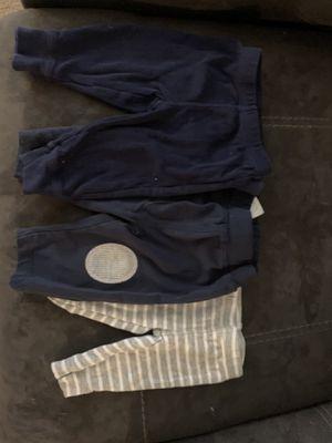Three pair of newborn pants for Sale in Hopewell, VA