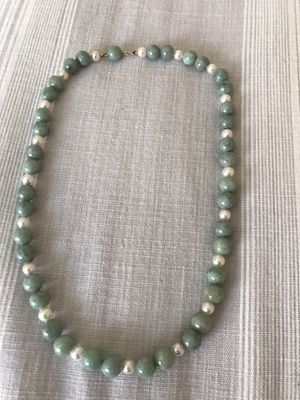 Antique Jade beads w/ pearl Necklace for Sale in San Clemente, CA