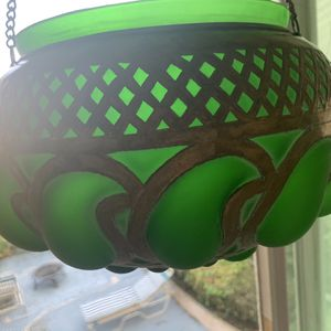 Large Green Metal Persian Candle Holder for Sale in Newport Beach, CA