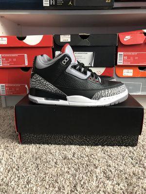 e476cd18a90 Jordan retro 3 black cement size 8 for Sale in Fort Wayne