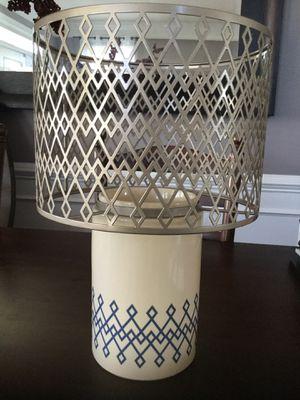"Yankee Candle ""Blue Argyle Lamp"" Jar/Pillar Holder for Sale in Lansdowne, VA"