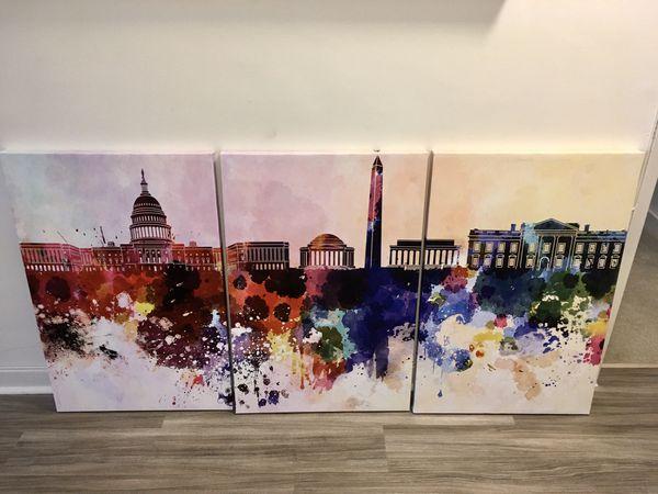 DC Canvas Art 3 Panels (24x36)