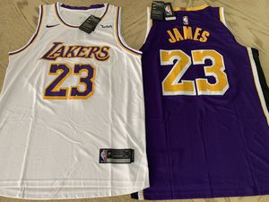 Lebron James Lakers Jersey Los Angeles #23 White// Purple// STITCHED S-XXL for Sale in Glendale, CA
