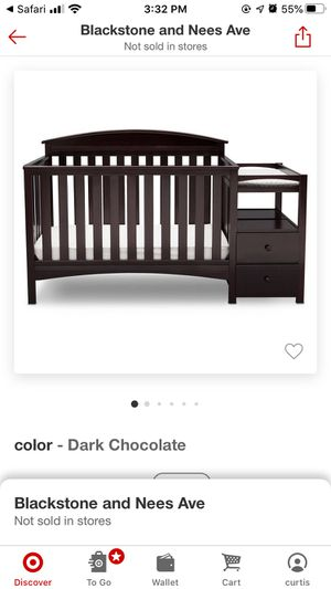 Delta Children Abby convertible Crib and changer - Dark chocolate for Sale in Fresno, CA