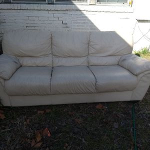 White Leather Couch for Sale in Dallas, TX