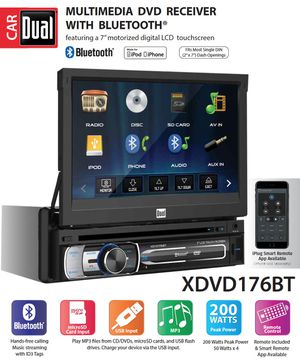 Dual car stereo bluetooth with DVD Receiver for Sale in Queens, NY