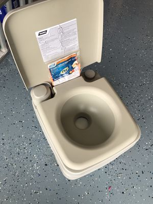 Camco Portable Travel Toilet - Never Used for Sale in DeBary, FL