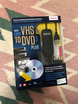 Roxio Easy VHS to DVD 3 plus for Sale in Spokane, WA