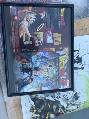 Dragonball Z Signed DVD cover Fusion Reborn for Sale in Tomball, TX