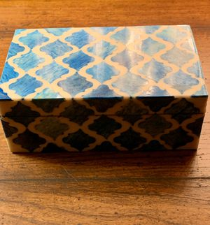 Enamel Lacquered Inlay Mosaic Trinket Keepsake Box for Sale in Nashville, TN