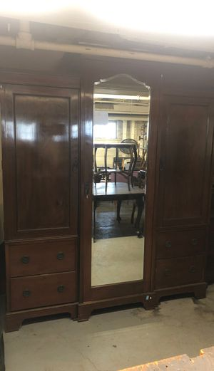 Large antique mahogany armoire for Sale in Seattle, WA