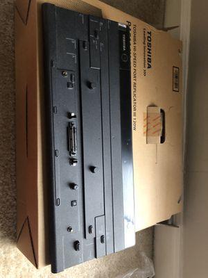 Toshiba docking station HI Speed Port Replicator III+ - Port Replicator - TSH-PA5116U-2PRP, Black. for Sale in Marietta, GA