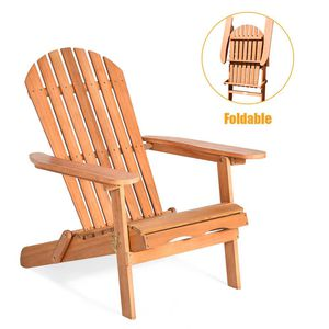 Foldable Eucalyptus Wood Patio Outdoor Lounge Chair for Sale in Chino, CA