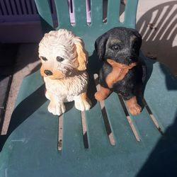 Dog Statues Wind Up Music $5 Each for Sale in Indianapolis,  IN