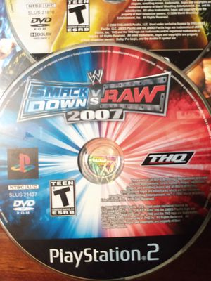 PLAY STATION 2 GAMES ( smack down vs raw 2007/2009) for Sale in Miami, FL
