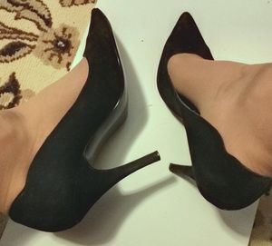Size 10 style &Co 4 inch high heels black suede for Sale in Irving, TX