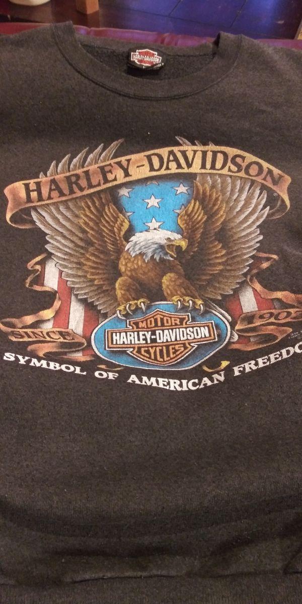 VTG* Harley Davidson 1990 3D emblem sweatshirt