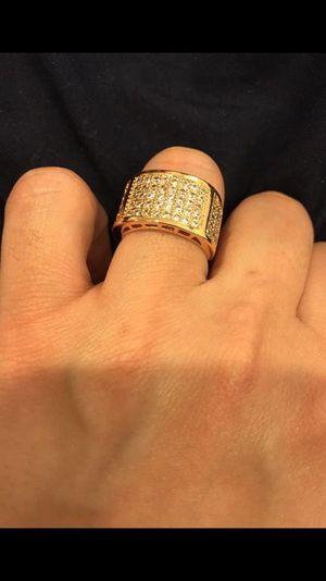 Unisex- 18K Yellow Gold plated - Multi Diamond Design Ring- Code GD901 for Sale in Jacksonville, FL
