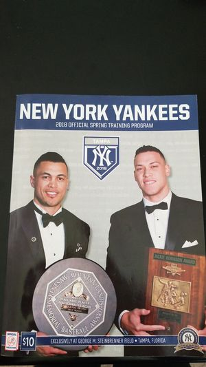 Yankees 2018 Spring training program for Sale in Tampa, FL