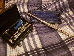 Clarinet and flute for Sale in Alexandria, LA