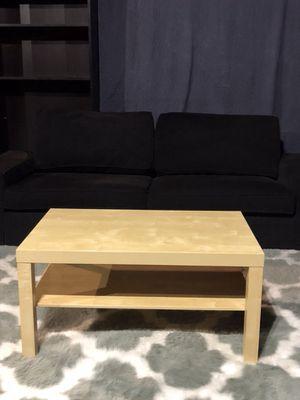 IKEA BLACK COUCH/IKEA TABLE/ PRECIOUS WHITE/GREY RUGG!!!🖤💜💙 for Sale in San Francisco, CA