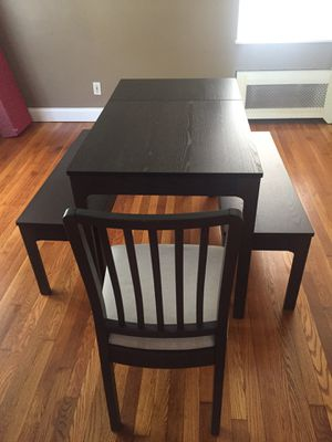 IKEA extendable table dining set for Sale in Bellerose, NY