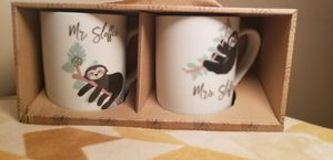 Mrs Mr Sloffee 16 Ounces Matching Sloth Mugs Hot Beverages Microwave Safe for Sale in Milton, PA