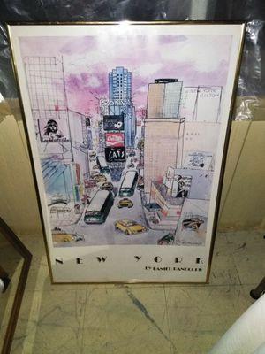 New York City Print in Frame for Sale in Detroit, MI
