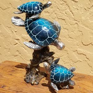 """Brand New! 9 1/2"""" Sea Turtle Sculpture - Polystone - Nautical for Sale in Miami, FL"""