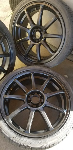 """18"""" inch 4 lug universal racing rims for Sale in Whittier, CA"""
