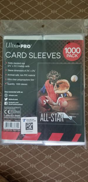 Brand New in Package 1000 Ultra Pro Standard Penny Soft Card Sleeves Acid Free No PVC Baseball Football Basketball Pokemon Yugioh, You Get 10 Packs for Sale in West Covina, CA