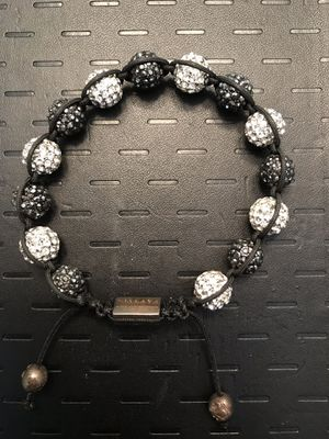 2 Nialaya Bracelet with Onyx Black and Silver Cubic Zirconia Crystal Diamond Handmade In Hollywood for Sale in Macomb, MI
