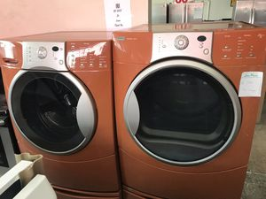 Vertex Appliances. Sale& services. Used,set front load , washer& dryer( electric dryer). Energy star, heavy duty, great condition for Sale in San Jose, CA