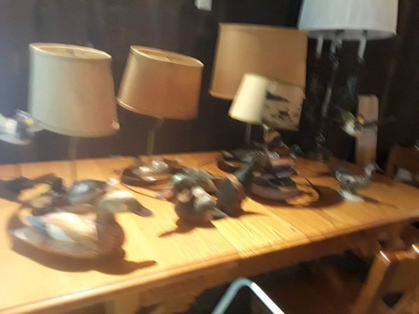 Antiques table lamps