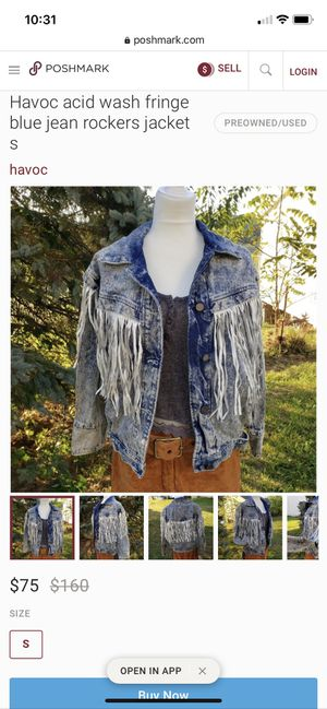 Vintage Havoc Acid Wash Fringe Jean Jacket for Sale in San Diego, CA