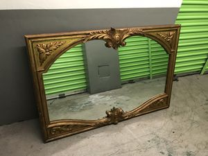 Large antique framed mirror 4 feet long for Sale in Miami, FL
