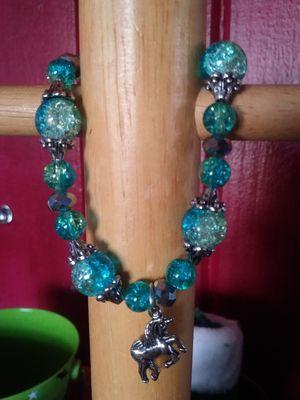 Handmade beaded bracelet w/unicorn charm for Sale in Tampa, FL