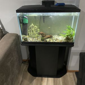30 Gallon Fish Tank With 8 Fishes And Stand for Sale in Clinton, MD