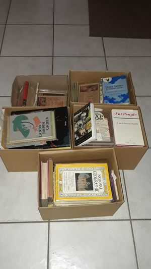 5 boxes of books and some books are signed all and plastic sleeves for Sale in Palm Springs, FL