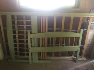 Green twin bed frame for Sale in Glen Lyon, PA