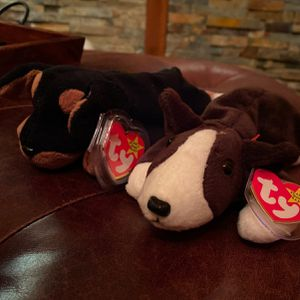 Doby and Bruno Beanie Babies for Sale in Gig Harbor, WA