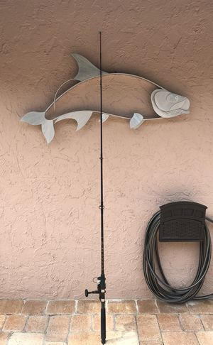 Fishing rod and reel for Sale in Lutz, FL