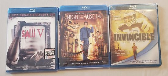 (3) New/Unopened Blu Ray DVD Movies for Sale in White Hall,  WV
