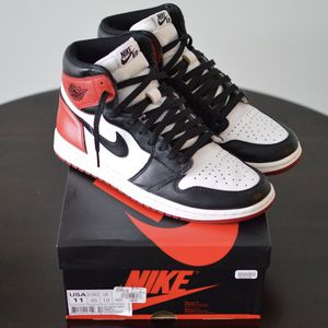 Nike Air Jordan 1 Retro High OG Black Toe 2016 Size 11 555088-125 Red White for Sale in Fort Washington, MD