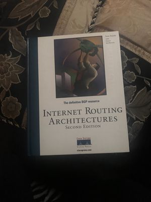 Internet Routing Architectures Second Edition Book for Sale in Fairfax, VA