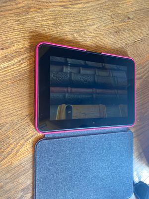 Amazon Kindle Fire with Pink Case for Sale in Bellevue, WA