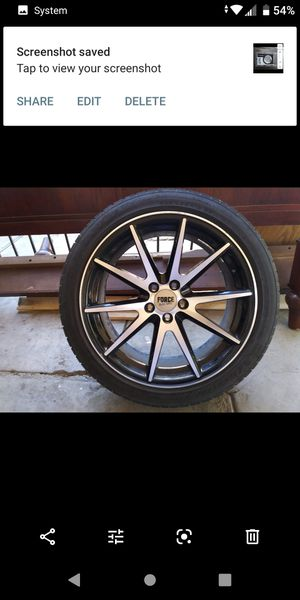 Force Racing wheels 18' for Sale in Bakersfield, CA