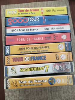 TOUR De FRANCE DVDs (8 Years) for Sale in Alexandria,  VA