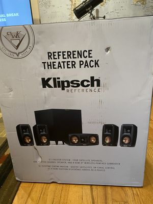 Klipsch Reference Theater Pack 5.1 channel home theater speaker system for Sale in Santa Clara, CA