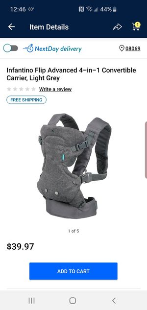Grey infantino baby carrier 4 in 1 for Sale in Pedricktown, NJ